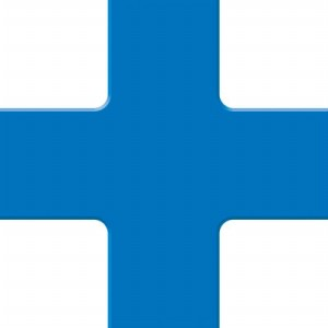 ACCUFORM SIGNS PTP212BU Floor Marking Tape, Quad Corner, 15 x 15 cm Size, Blue | CF4EVM AFPTP212BU