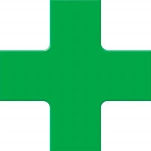 ACCUFORM SIGNS PTP212GN Floor Marking Tape, Quad Corner, 15 x 15 cm Size, Green | CF4EVN AFPTP212GN