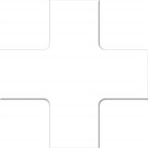 ACCUFORM SIGNS PTP212WT Floor Marking Tape, Quad Corner, 15 x 15 cm Size, White | CF4EVR AFPTP212WT